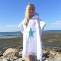 Aqua star on White