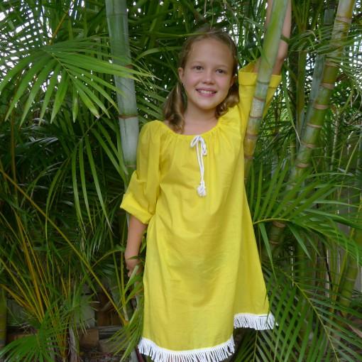island girl beach dress yellow