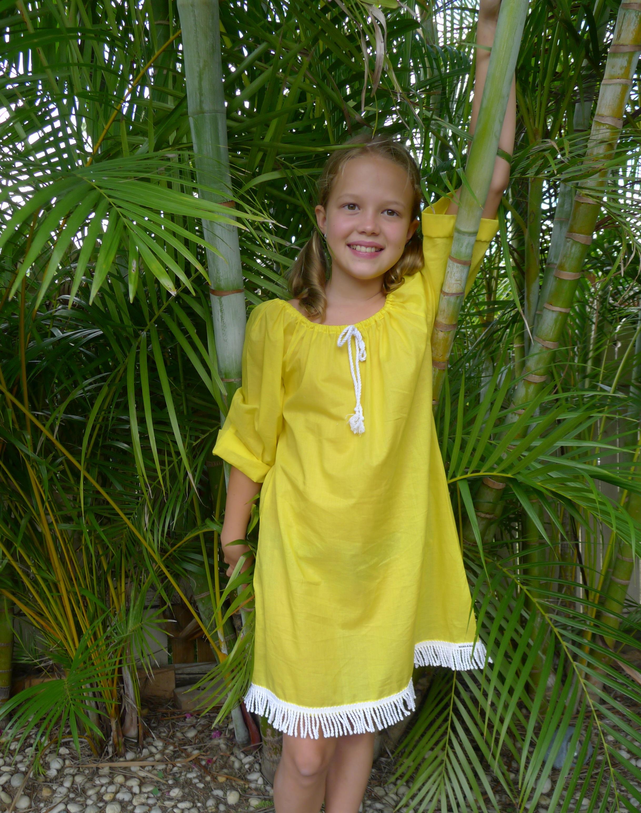 Beach Dress Island Girl Citrus Yellow Swimwear