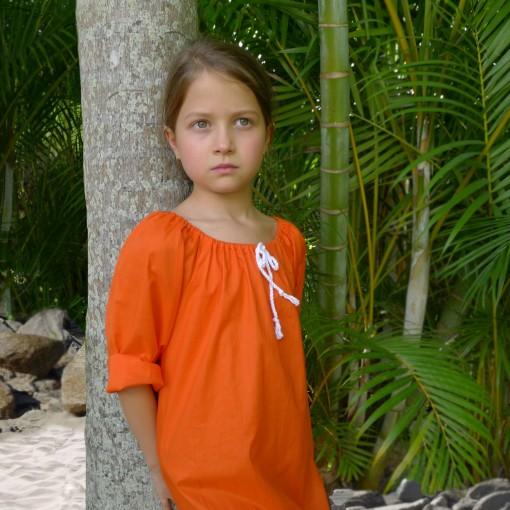 orange beach dress cropped